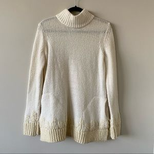 """Anthro-""""Sleeping On Snow"""" Embroidered Sweater"""